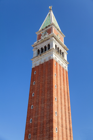 st  mark's: St Marks Campanile in Venice Italy. Vertical shot. Stock Photo
