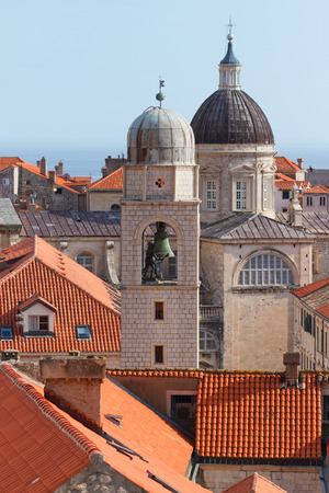 Churches in Dubrovnik on the Adriatic Sea