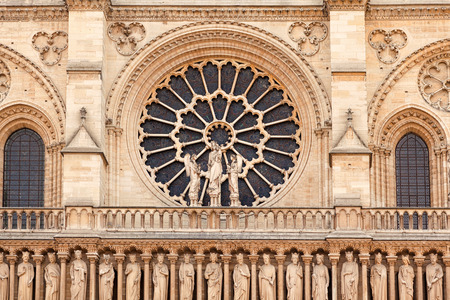 notre dame cathedral: Details of Notre Dame cathedral in Paris, France