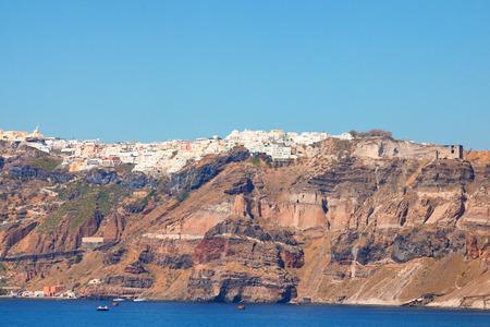 santorini greece: Cityscape panorama of Santorini Greece. Horizontal shot