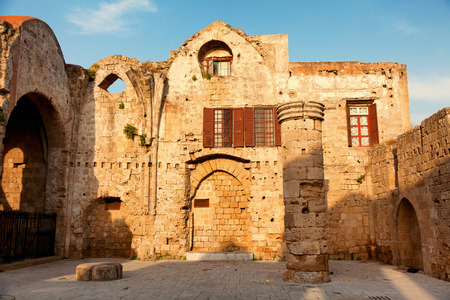 rhodes: Old town of Rhodes, Greece. Shot at sunrise Stock Photo