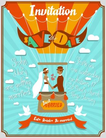 invitacion boda vintage: Invitaci?n de la boda del vintage
