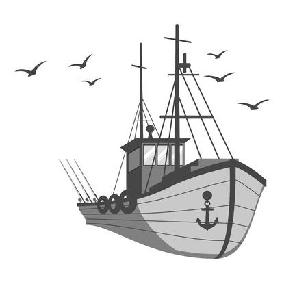 釣り船  イラスト・ベクター素材