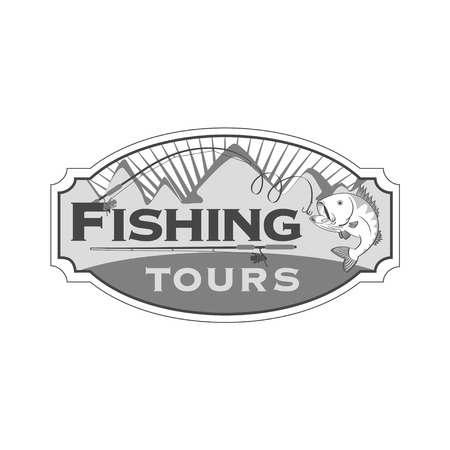 raptorial: Fishing tours emblem Illustration