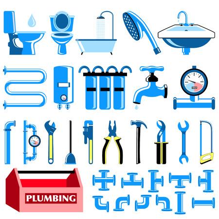 Loodgieterij kleur pictogrammen instellen