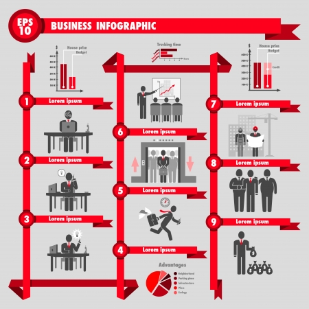 bank building: Business infographic about real estate and construction Illustration