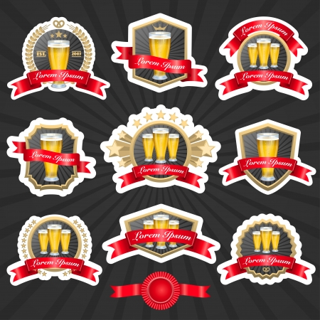 beer labels set 1 Vector