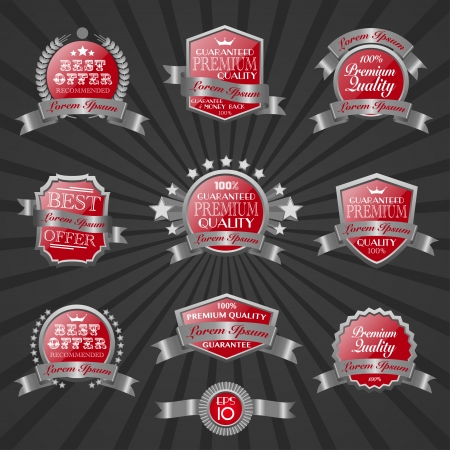 quality label set 7 Vector
