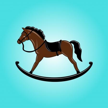 rocking horse: Brown toy rocking horse