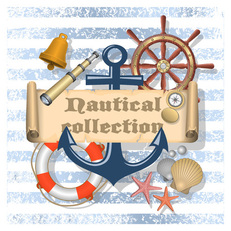 Nautical collection 4 Vector