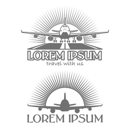 airplain: Designed airplain labels