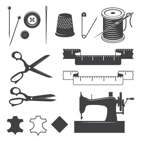 Set van naaien desinged elementen