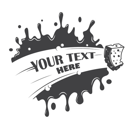 your text: blot cleaning sponge with a place for your text
