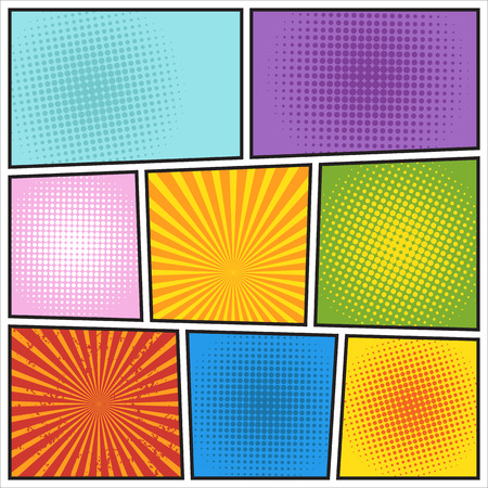 halftone: Comics book background. Different colors