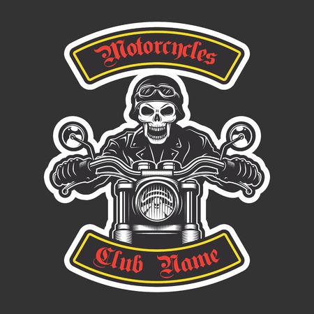 Classic biker borduurwerk jas. Motorfiets thema