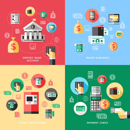 Banking Service Concept 向量圖像
