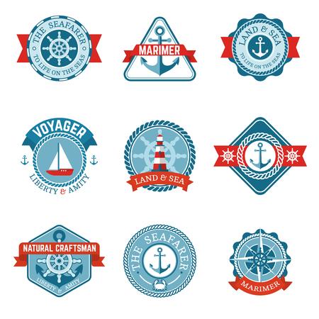 Nautical Marine Labels Set