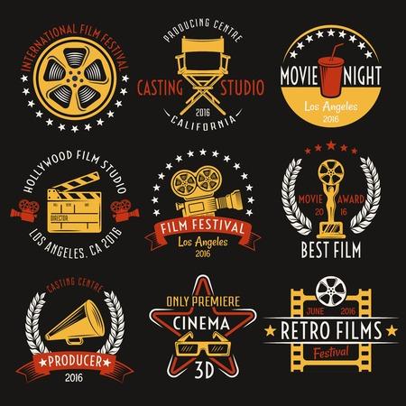 Cinema Labels Set