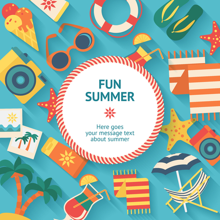 Summer Vacation Background Stock Vector - 80093288