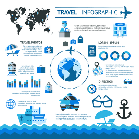 Travel Infographic Template Illustration