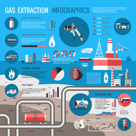 Oil Industry Infographic Concept Illustration