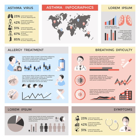 Asthma Infographic Concept Illustration