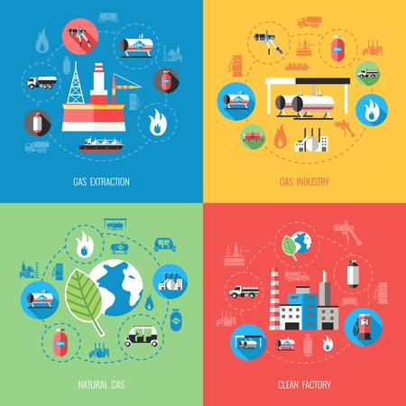 Concepto industrial plano