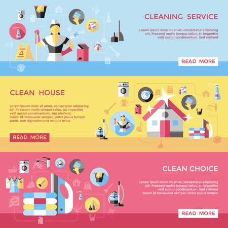 Cleaning Service Horizontal Banners