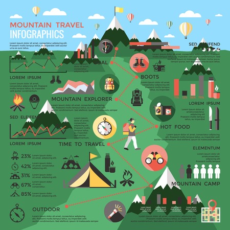 Mountain Travel Infographic Template