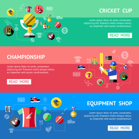 Cricket horizontale Banner Standard-Bild - 80093322