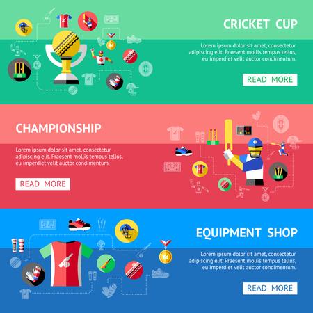 Cricket horizontale banners
