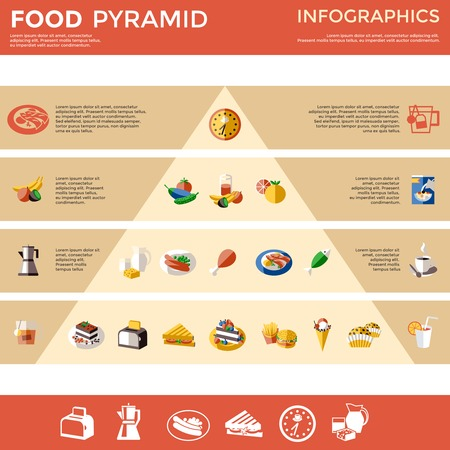 Food Pyramid Infographic Template Çizim