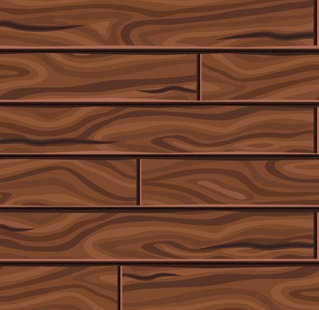 textural: Wooden horizontal planks background with twisting textural pattern and dark brown cracks vector illustration