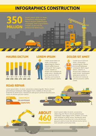 Herramientas De Trabajo De Color Infográfico Con La Construcción De ...