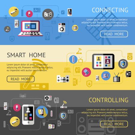 Smart Home Horizontal Banners