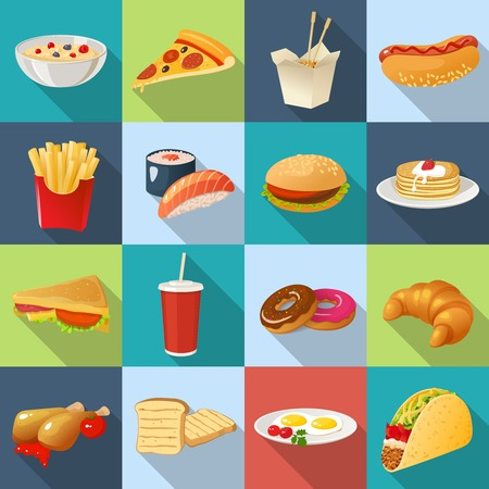 Menu Design For Fast Food Restaurant With Decorative Product