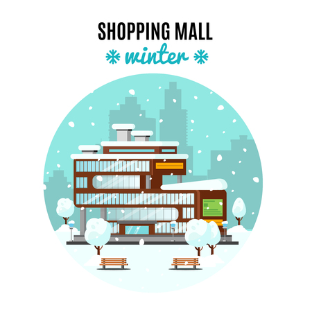 Shopping Mall Colorful Concept