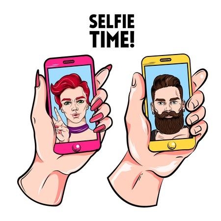 Selfie Time Sketch Set