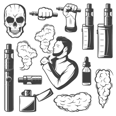Vape Elements Collection Illustration