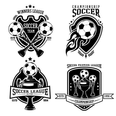 soccer: Soccer Black Badges Set