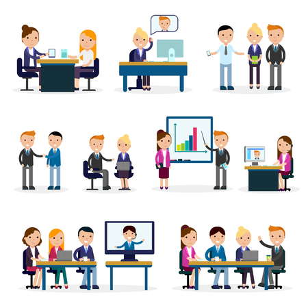 flat: Business People Flat Collection