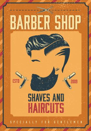 barber shop: Barber Shop Poster Illustration