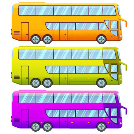 double decker: Touristic Double Decker Sightseeing Bus Collection