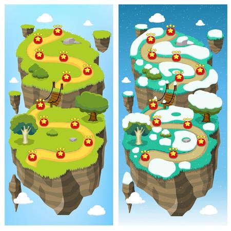 모바일 게임 레벨 맵 개념