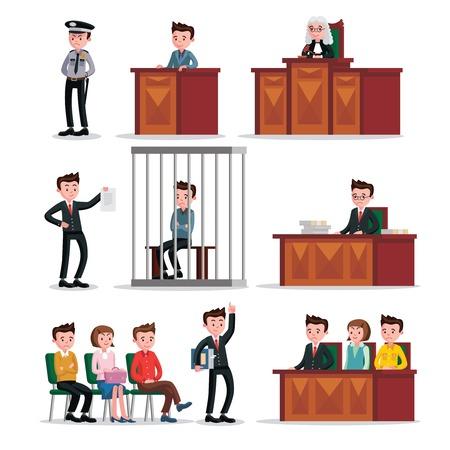 judicial: Judicial System Icons Set