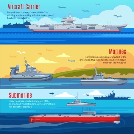 Banderas horizontales de la flota militar