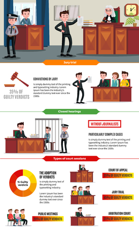 Judicial System Infographic Concept