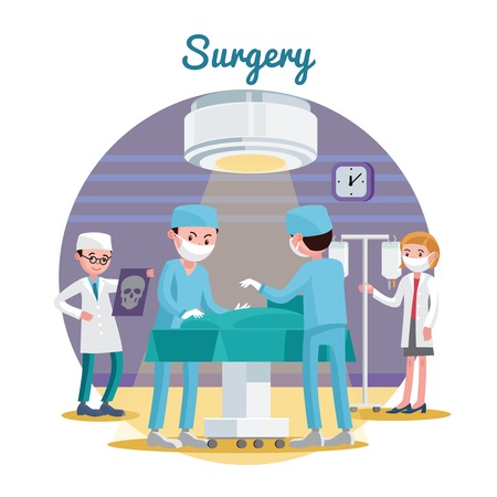 Medical Surgery Flat Composition Vector Illustration