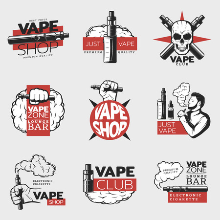 Colorful Electronic Cigarette Logos