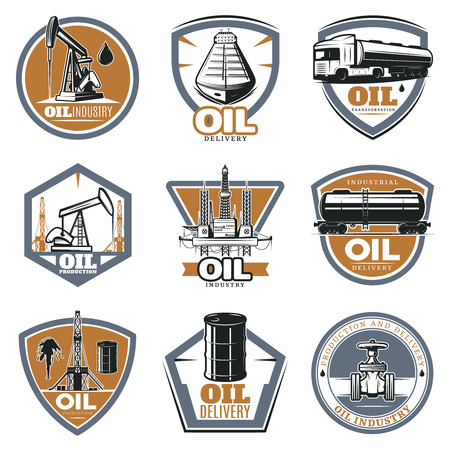 extraction: Colorful Oil Extraction Labels